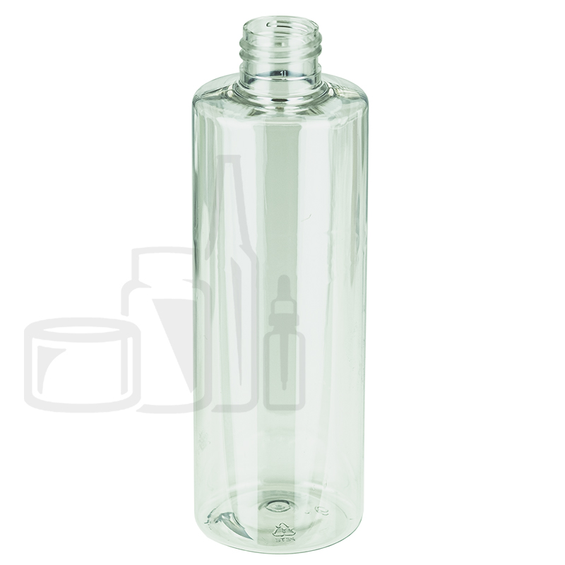 10oz (300ml) Cylinder Clear PET Bottle 24-410(154/cs)