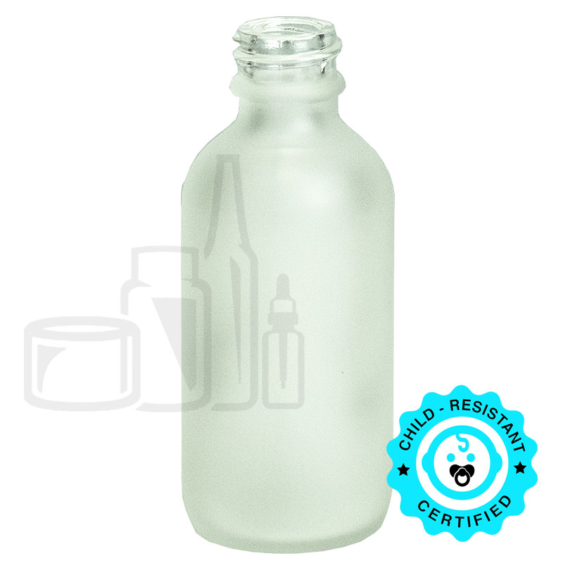 2oz Frosted Boston Round Glass Bottle 20-400(210/cs)