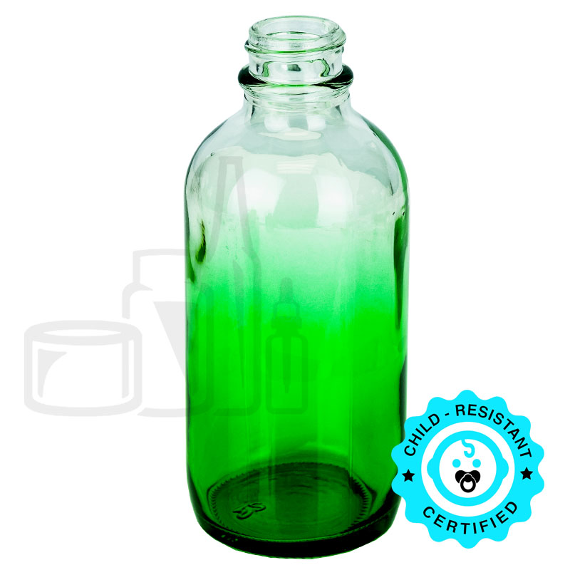 4oz Faded Green Boston Round Bottle 22-400