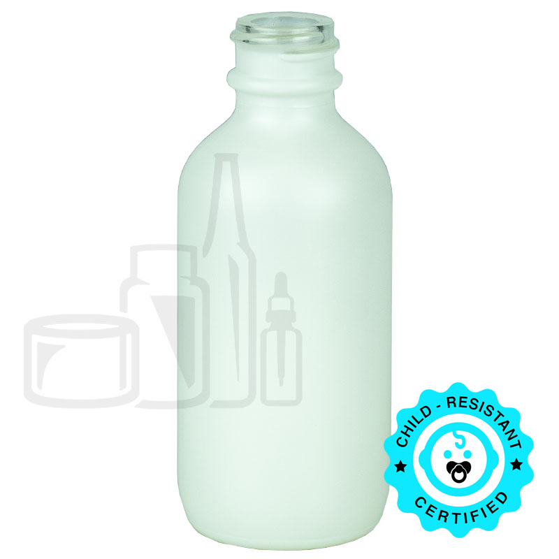 2oz Matte White Glass Bottle 20-400(240/cs)