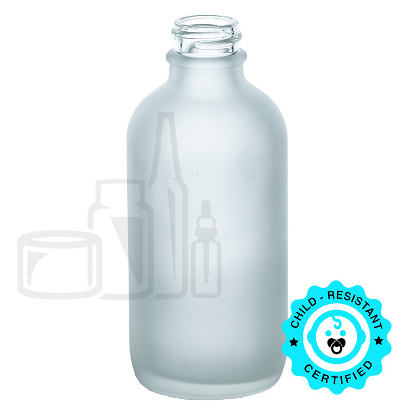 4oz Frosted Clear Boston Round Bottle 22-400(112/cs)
