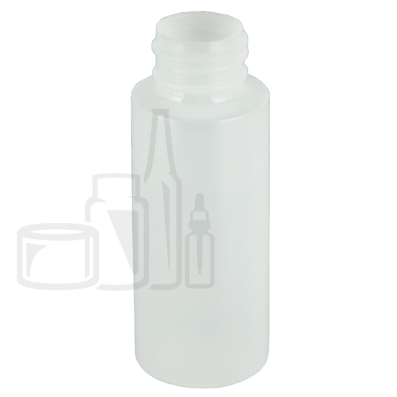 2oz Natural Cylinder HDPE Plastic Bottle 24-410(900/cs)