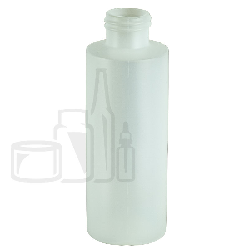 4oz Natural HDPE Plastic Cylinder Bottle 20-410(425/cs)