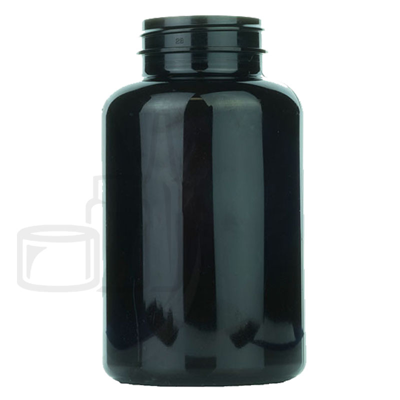 300cc Dark Amber PET Packer Bottle 45-400(240/cs)