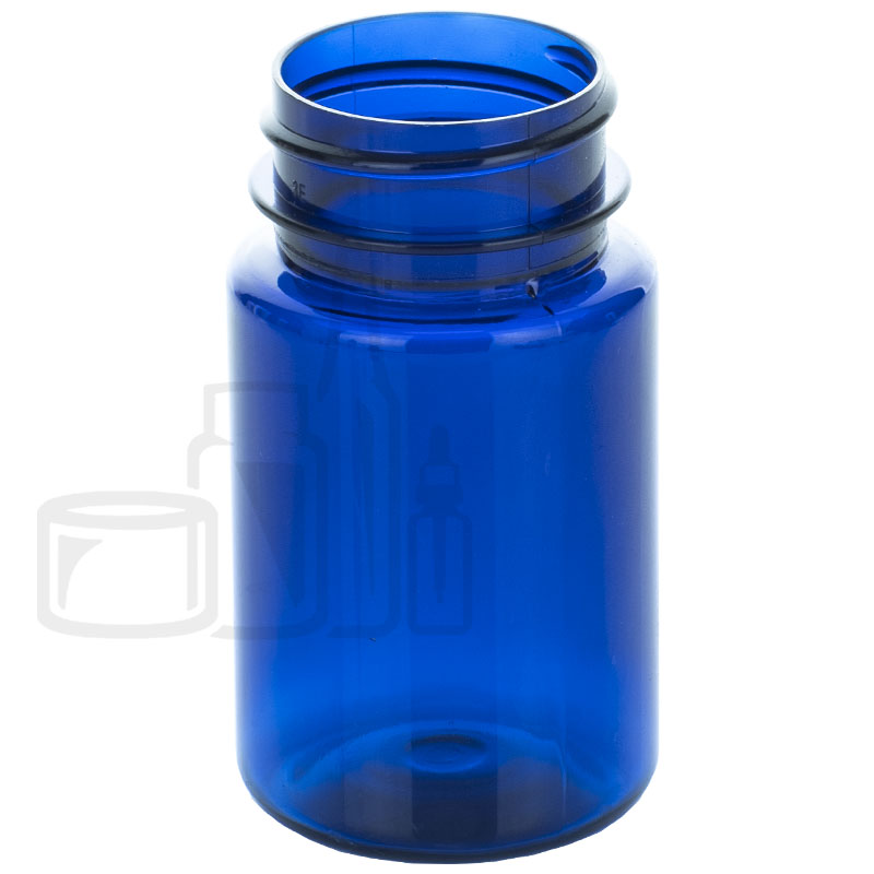 60cc Cobalt Blue PET Packer Bottle 33-400