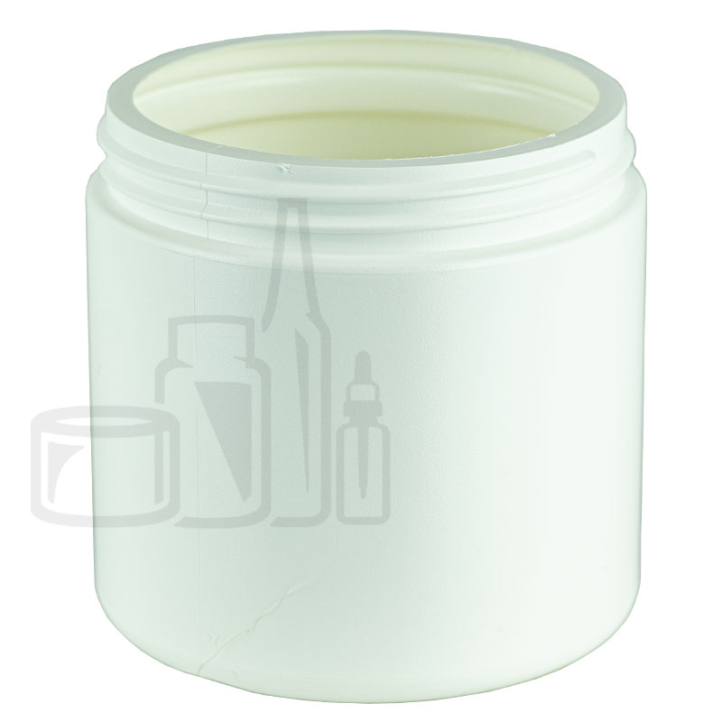 WHITE 16oz HDPE Jar 89/400(168/cs)