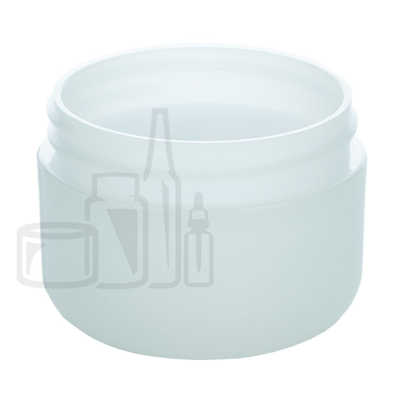 1oz Round Base Frosted PP/PS Double Wall Jar - 53-400(576/cs)