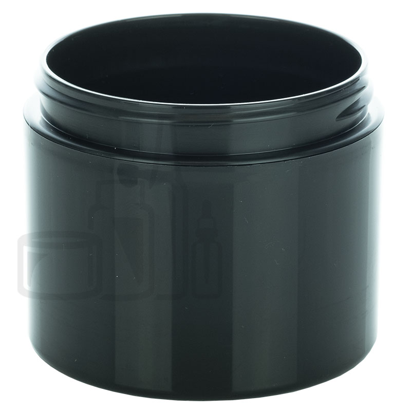 4oz Straight Base Solid Black PP Double Wall Jar - 70-400(360/cs)