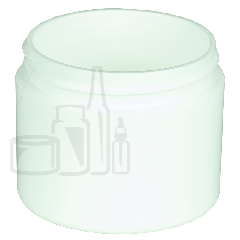 2oz Straight Base Solid White PP Double Wall Jar - 58-400(384/cs)