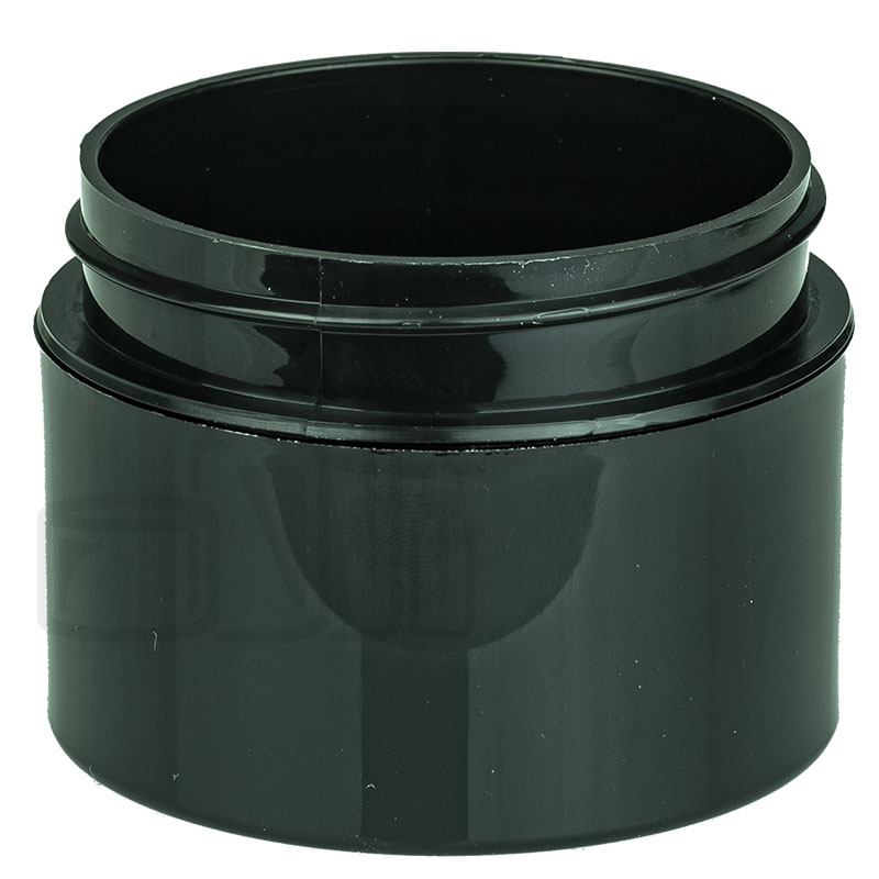 1oz Straight Base Solid Black PP Double Wall Jar - 53-400(486/cs)