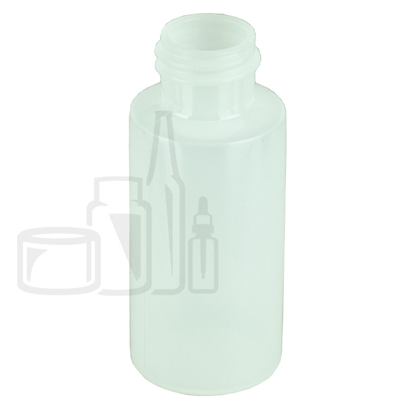1oz Natural Cylinder HDPE Plastic Bottle 20-410(1500/cs)