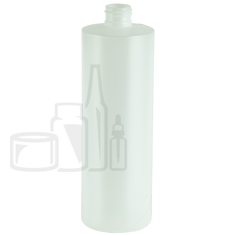 16oz Natural HDPE Plastic Cylinder Round Bottle 24-410(189/cs)