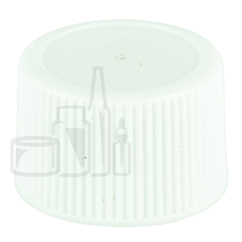 Non CRC WHITE 20-410 Ribbed Skirt Lid Unlined(10000/cs)