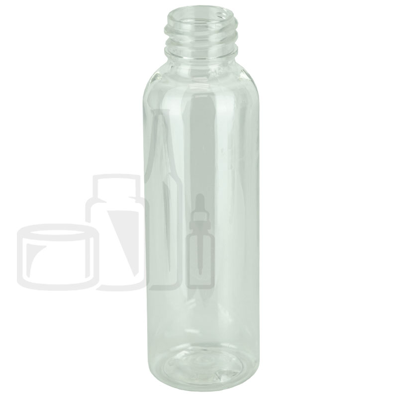 2oz Clear Cosmo Round PET Bottle 20-410(1230/cs)