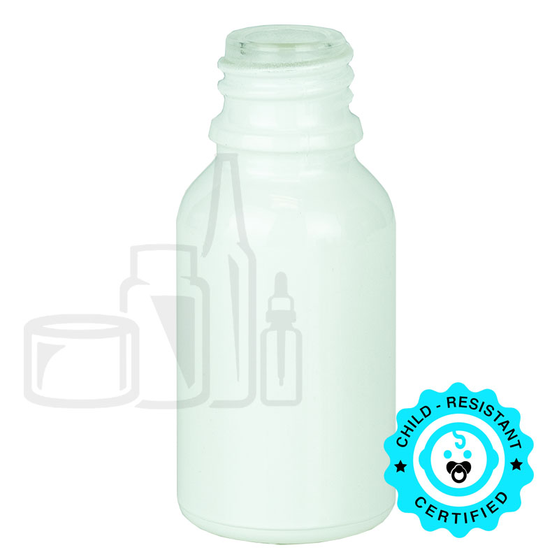 15ml Shiny White Euro Bottle 18-415(468/cs)
