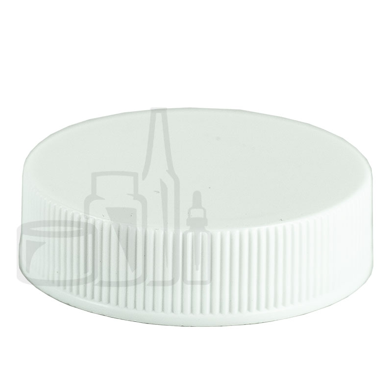 White CT Ribbed Closure 38-400 with with HS035N .20LD CTR GATE PRT Liner(2900/cs)