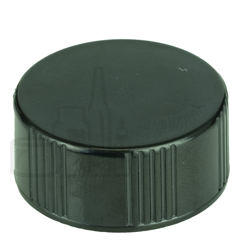 Black CT Closure Phenolic Lid w/ Polycone Liner 22-400