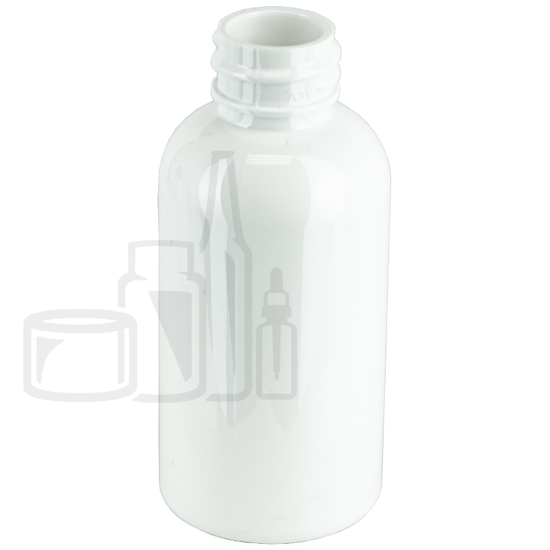 2oz WHITE Boston Round PET Bottle 20-410(1120/cs)
