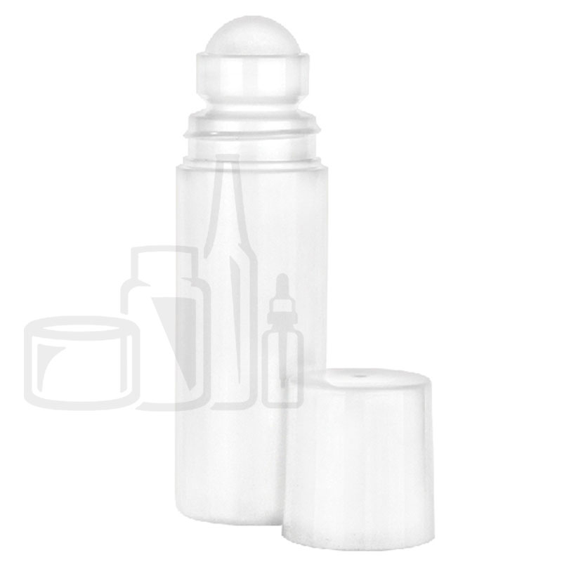 90ml White HDPE Roll-On Deodorant Sytle Bottle with 35mm neck PP Ball/Cap