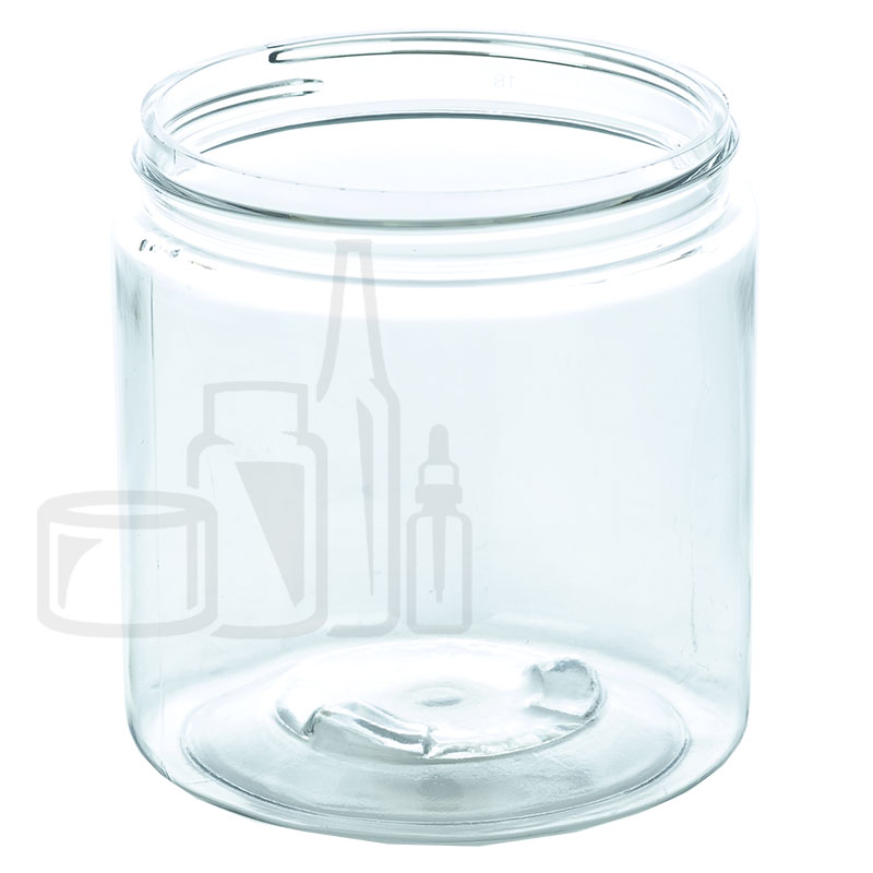8oz PET SS Jar - Clear - 70-400(320/cs)