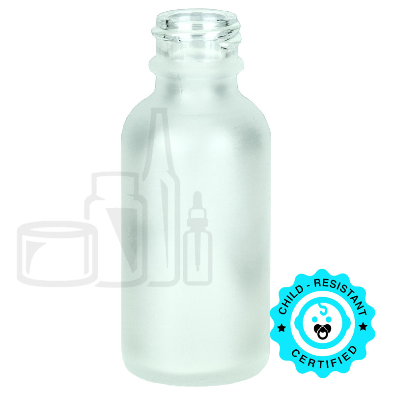 1oz Frosted Boston Round Bottle 20-400