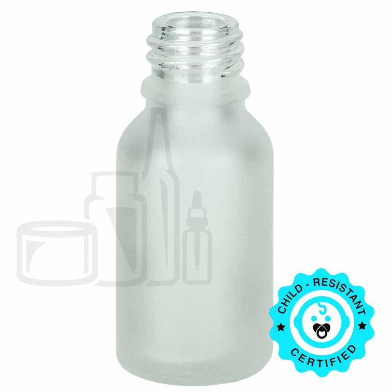 15ml Frosted Glass Euro Bottle 18-415