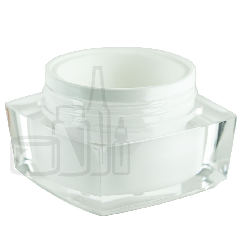 30ml Clear JAR ONLY Square 2 Series