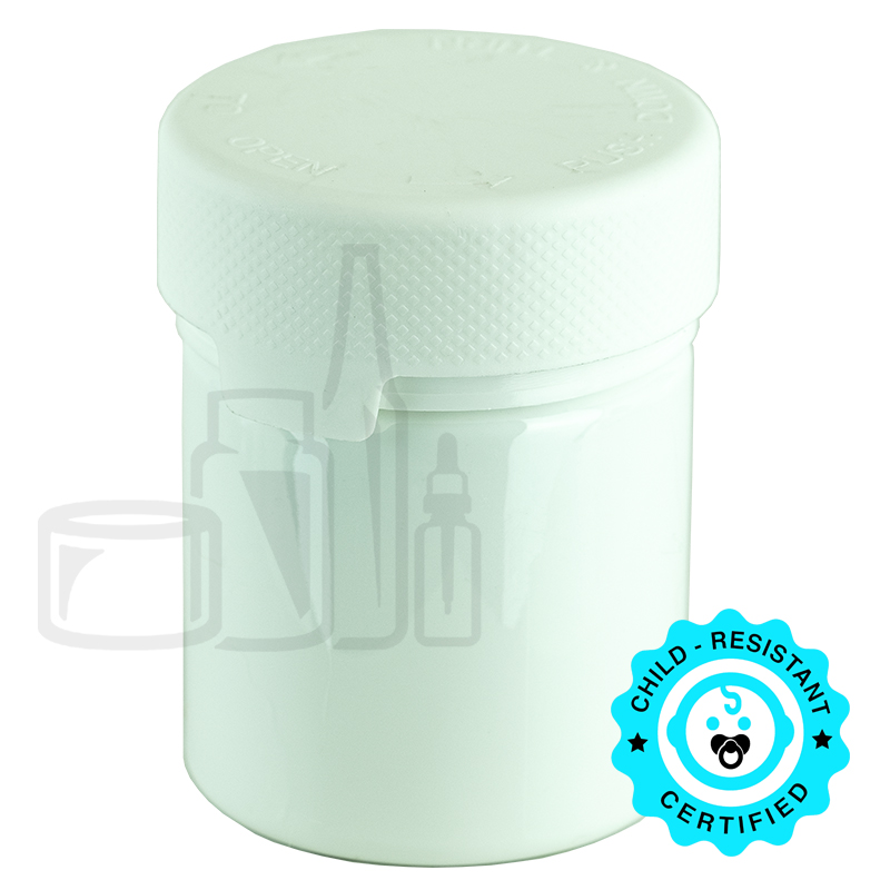 3oz PET Aviator Series by Chubby Gorilla TE/CRC Opaque White w/Solid White Cap(400/cs)