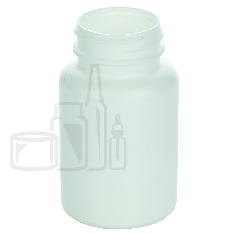 120cc White HDPE Packer Bottle 38-400(605/cs)