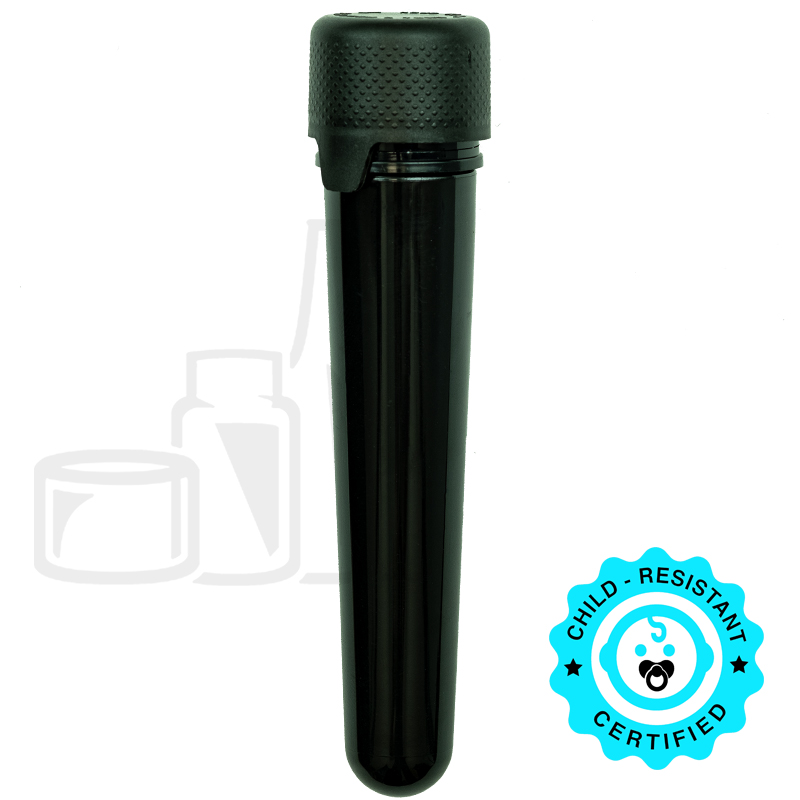 Chubby Gorilla Aviator Tubes - 100mm - Opaque Black with Black CRC/TE Cap