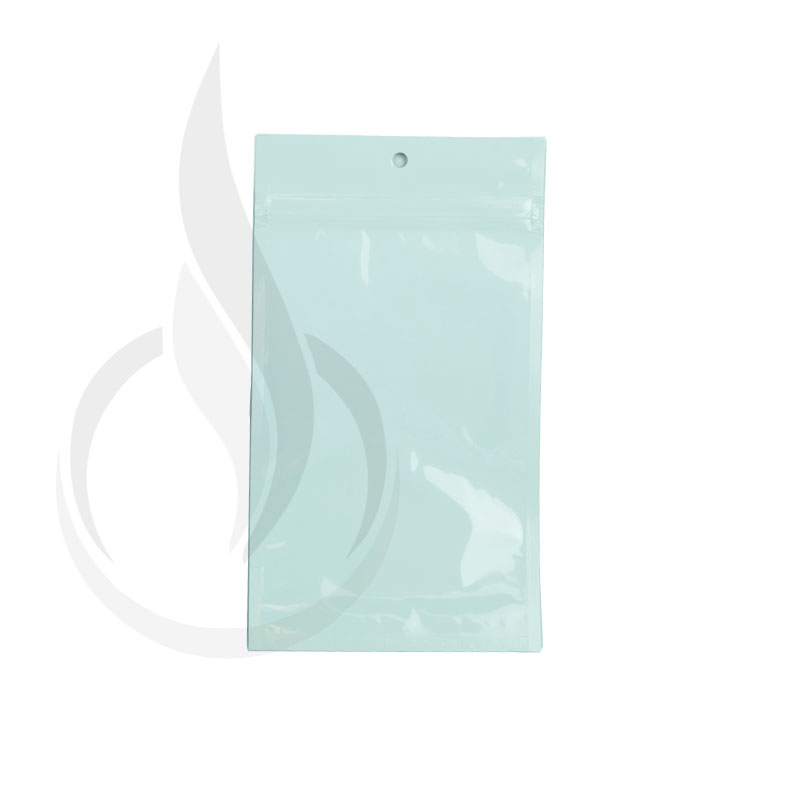 "Hanging Zip Bag - Clear Front with White Back - 4"" x 6.5"""
