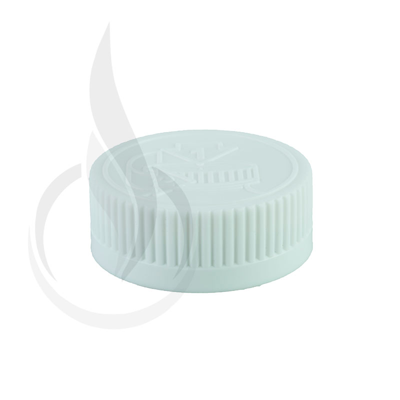 White CRC (Child Resistant Closure) Cap 33-400 Universal HIS Liner HS035 w/pic