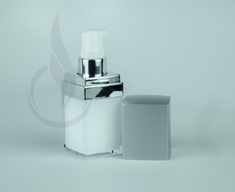 15ml Silver Cap Square Series Bottle