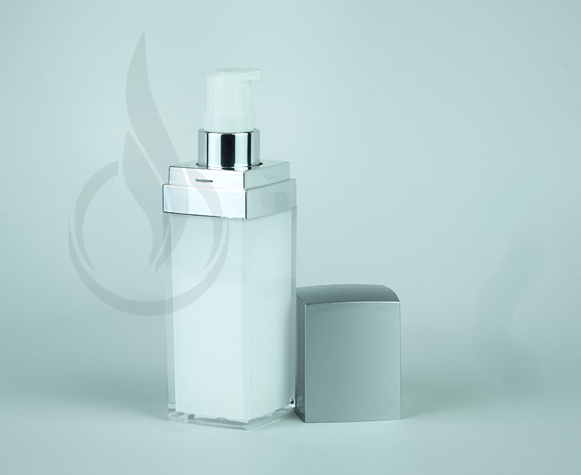 30ml Silver Lid Square Series Bottle