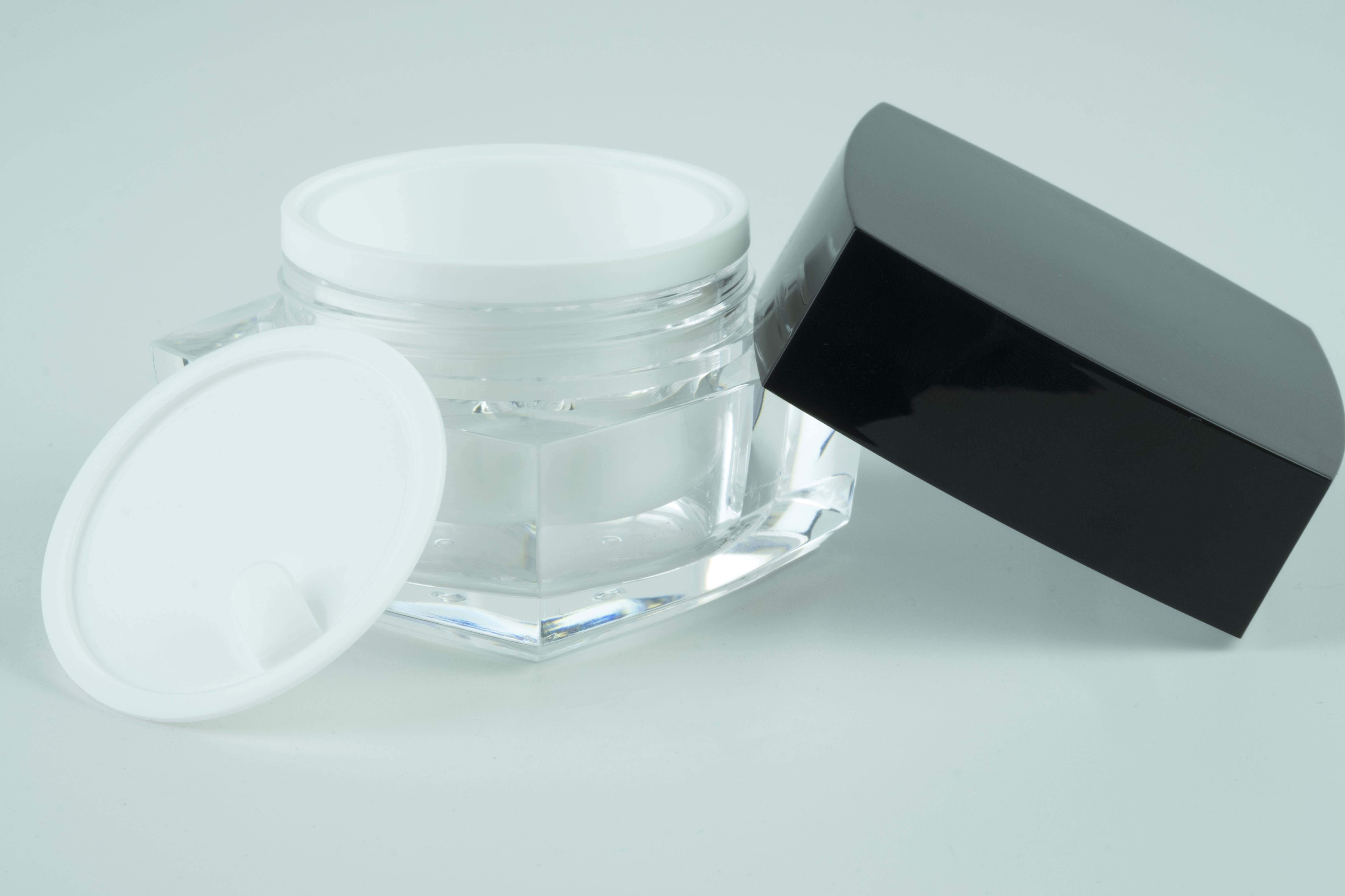 30ml White JAR ONLY Square 2 Series