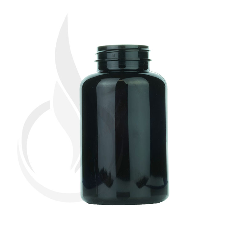 300cc Dark Amber PET Packer Bottle 45-400