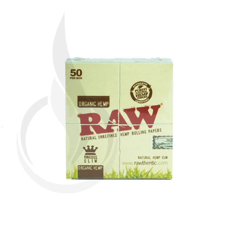 RAW *Organic Hemp* King Size Slim 50/Box