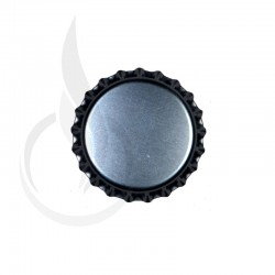 Beer Bottle Cap Silver Pry-off