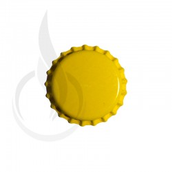 Beer Bottle Cap Yellow Pry-off