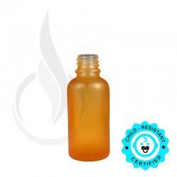 30ml Frosted Orange Euro Round Glass Bottle 18-415