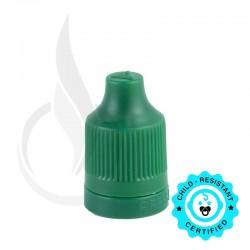 Dark Green CRC Tamper Evident Bottle Cap with Tip