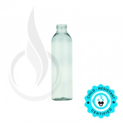180ml/6oz Clear Cosmo Round PET Bottle 24-410