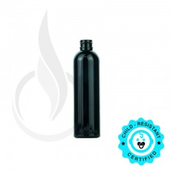 120ml Black Cosmo Round PET Bottle 20-410