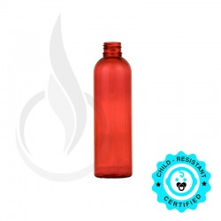120ml Red Cosmo Round PET Bottle 20-410