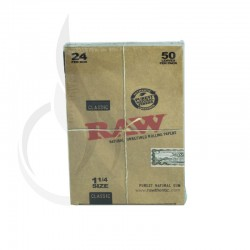 RAW 645 Natural Unrefined 1 1/4 Box/24