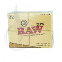 RAW 949 Unbleached Pre-Rolled Tips 20 Packs/Box