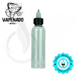 VAPENADO 120ml Bottle with Black/Clear Cap TALL