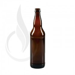 22oz AMBER Long Neck Bomber Beer Bottle