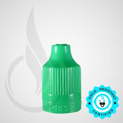 Green CRC Tamper Evident Bottle Cap with Tip