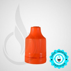 Orange CRC Tamper Evident Bottle Cap with Tip